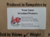 threecopse label with Grown in Britian logo