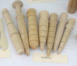 our dibbers are hand tuned on the pole lathe so each is unique
